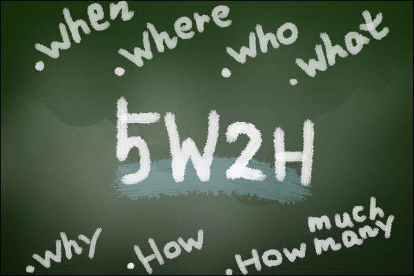会話の広げ方のコツ 話題を掘り下げるコツ:5W2Hの質問
